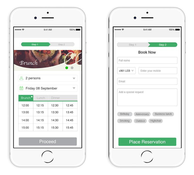 widget online reservation booking