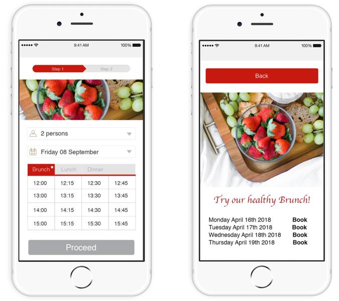 IOS Event booking widget