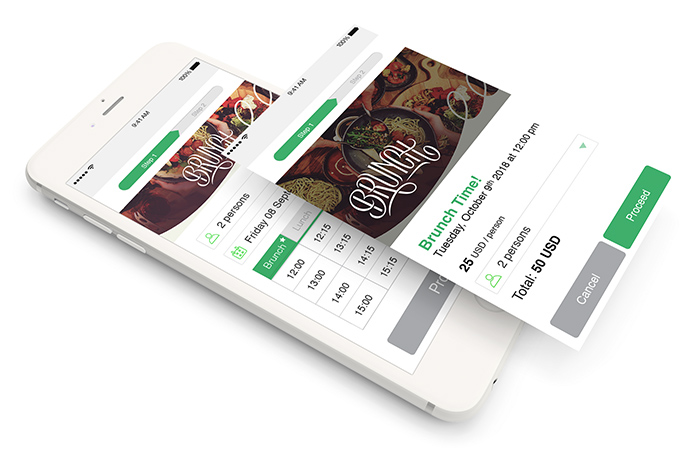 Online reservation and booking widget